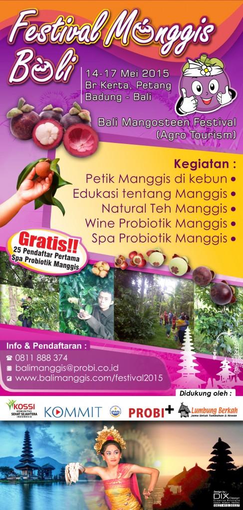 Brosur Festival Manggis Bali 2015 20x10cm-1